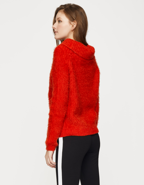 Pullover Rosso Spalle Nude