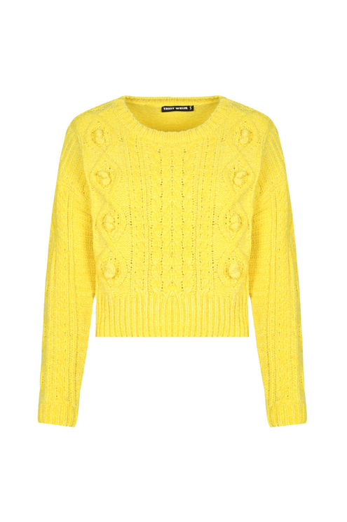 Yellow Cable Knit Jumper