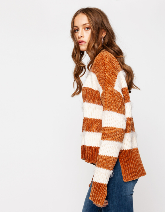 Striped Chenille Jumper