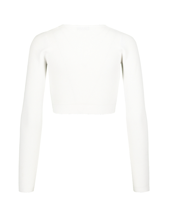 Cardigan Blanc Noir