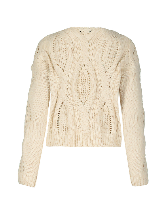 Beige Cable Knit Jumper