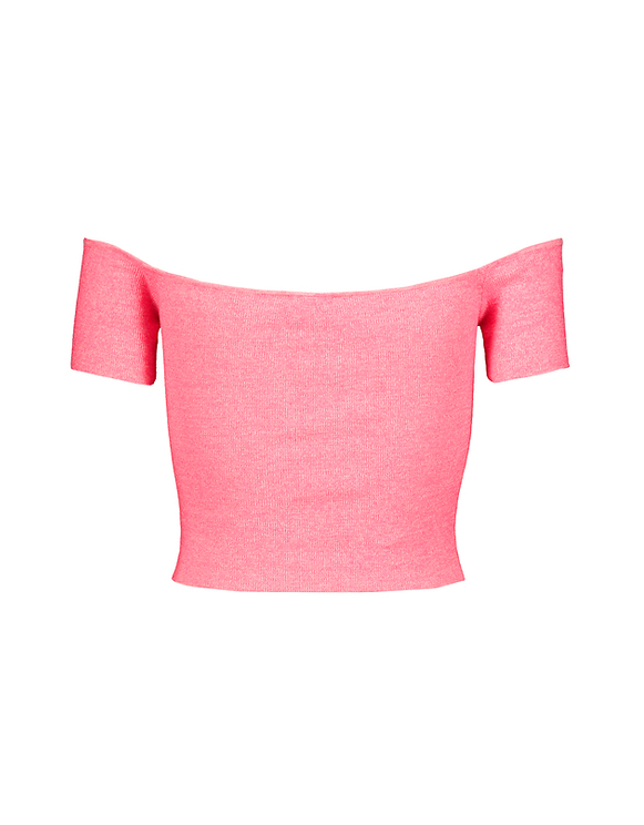 Pinkes Crop Top aus Strick