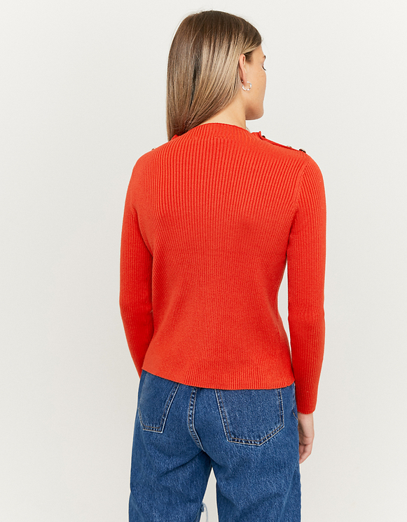 Orange Jumper with Buttons