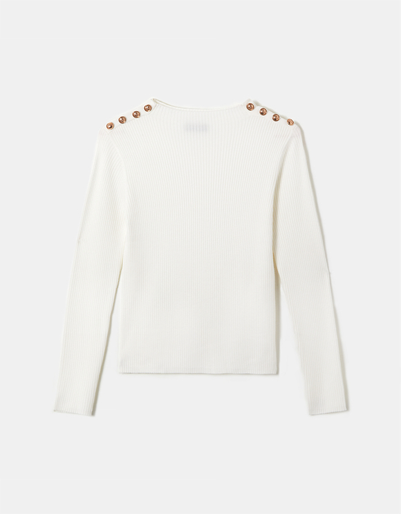 White Jumper with Buttons