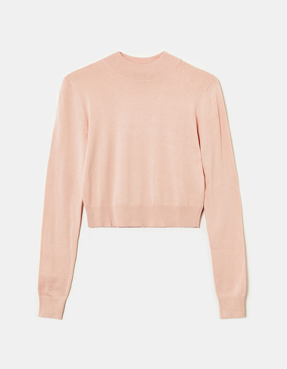 Pink Fine Knit Jumper