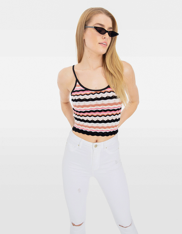 Fine Knit Crop Top