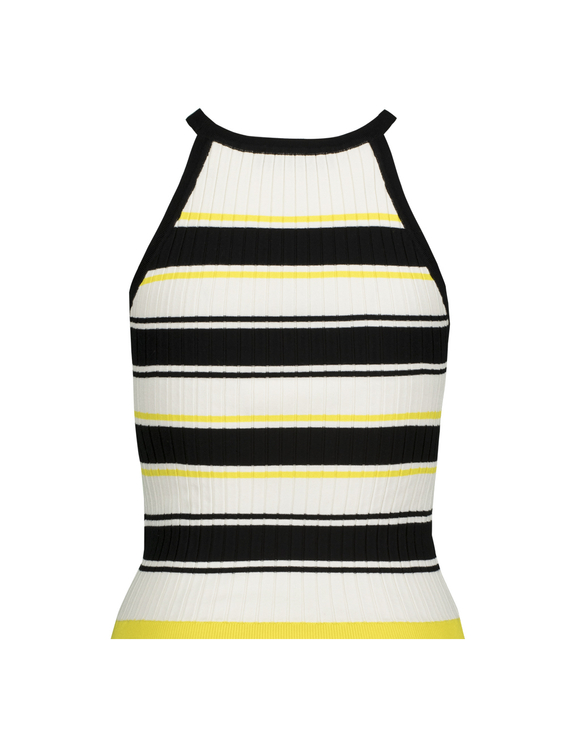 Striped Fine Knit Tank Top