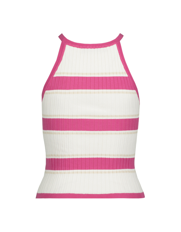 Striped Fine Knit Tank Top