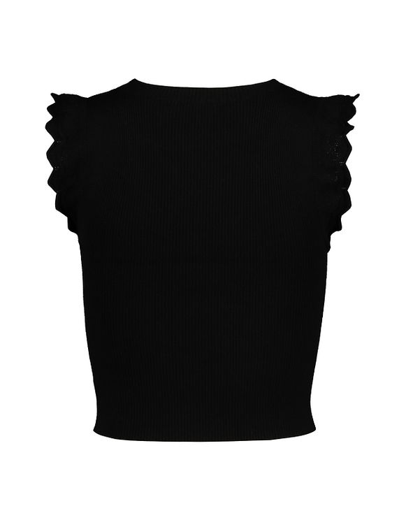 Frill Shoulder Knit Top