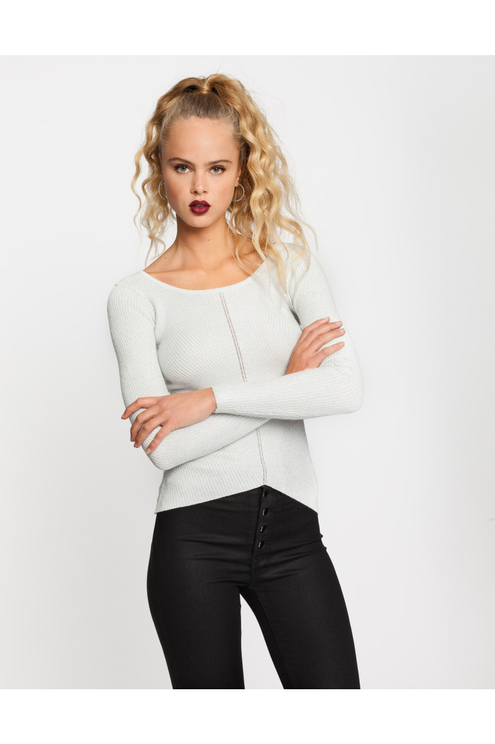 Silver Ribbed Jumper
