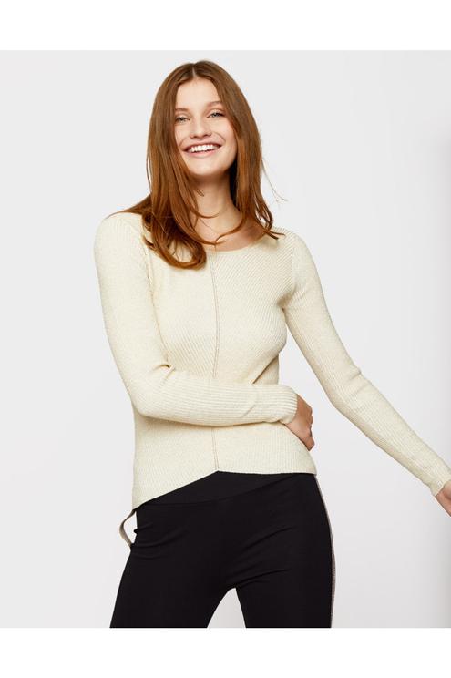 Beiger Pullover mit Lurex