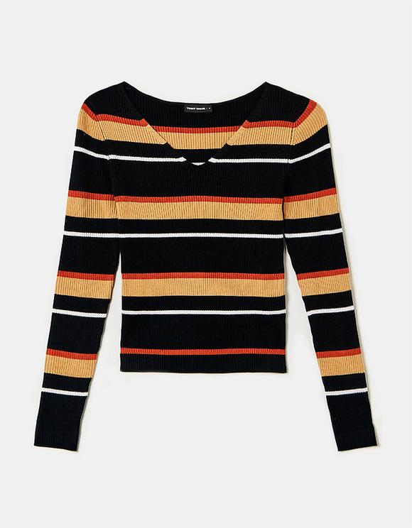 Striped Fine Knit Jumper