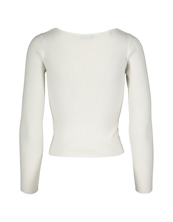Pull Blanc Ajusté
