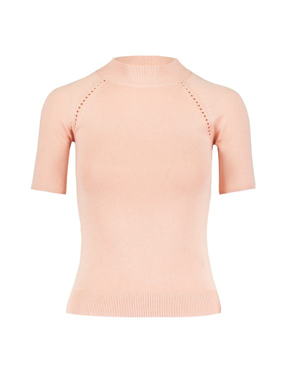 Pull Rose Manches Courtes