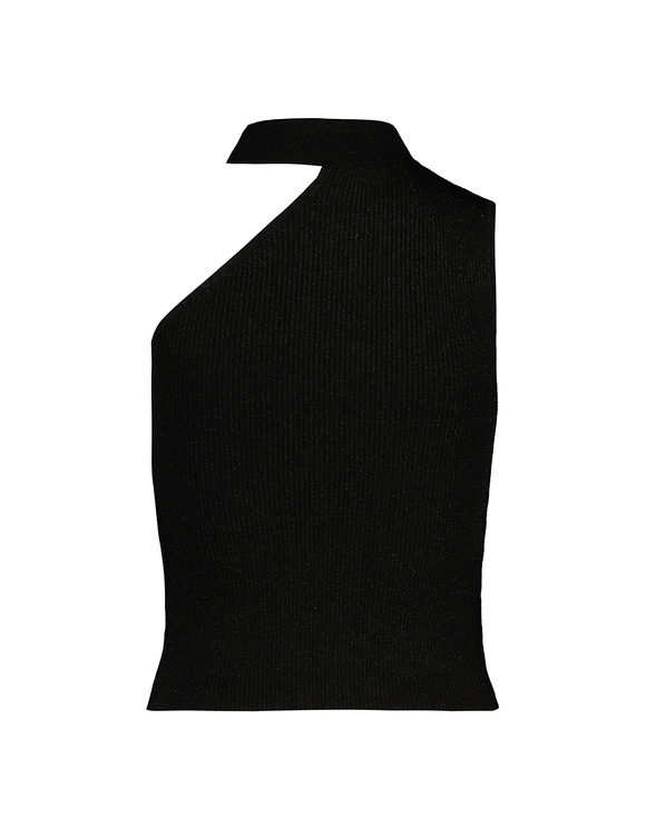 Black Sleeveless Knitted Top