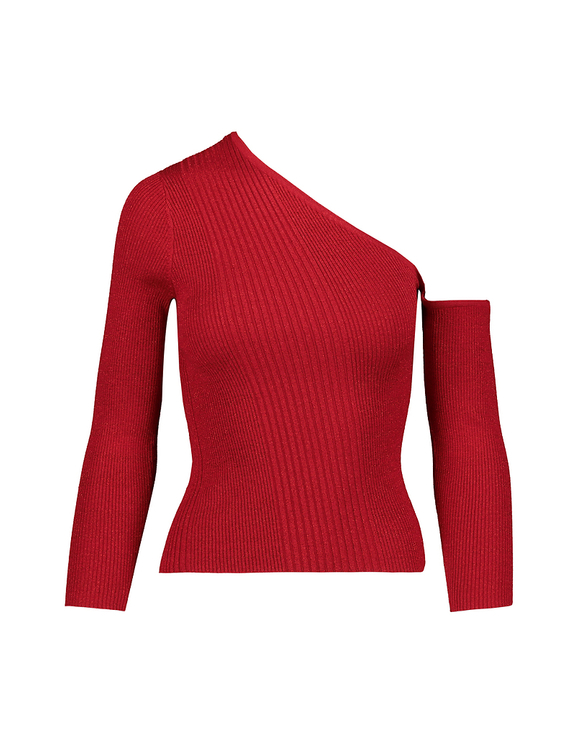 Red Off Shoulder Jumper
