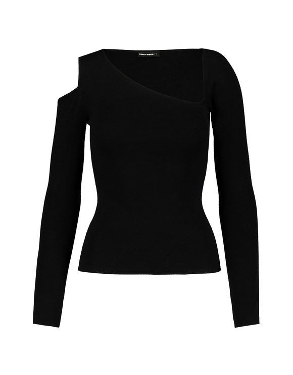 Black Asymmetric Jumper