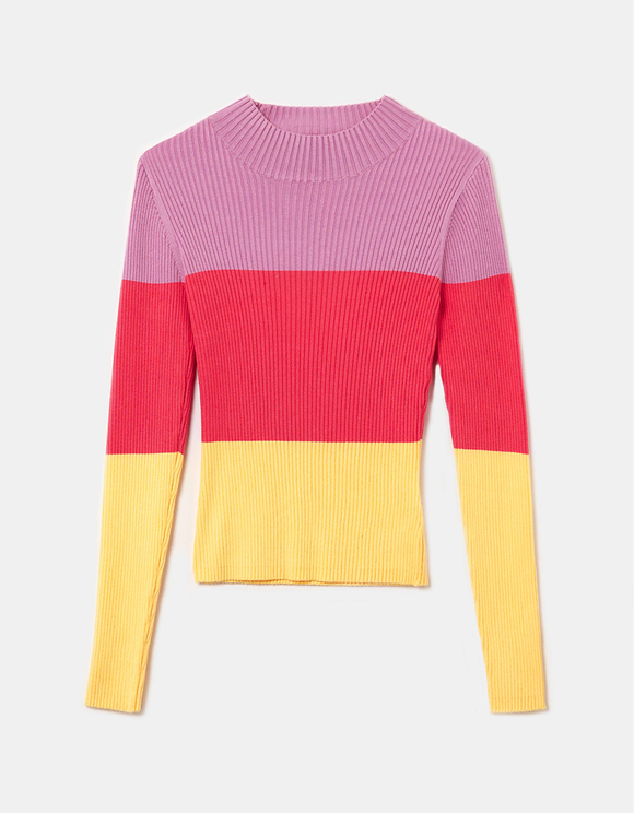 Pullover mit Farbblock-Design