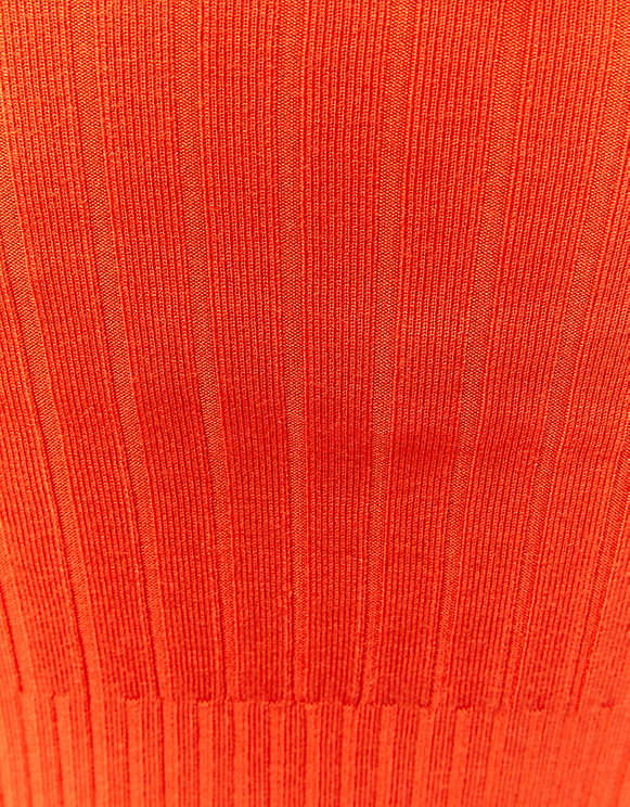 Orange Ribbed Cropped Jumper