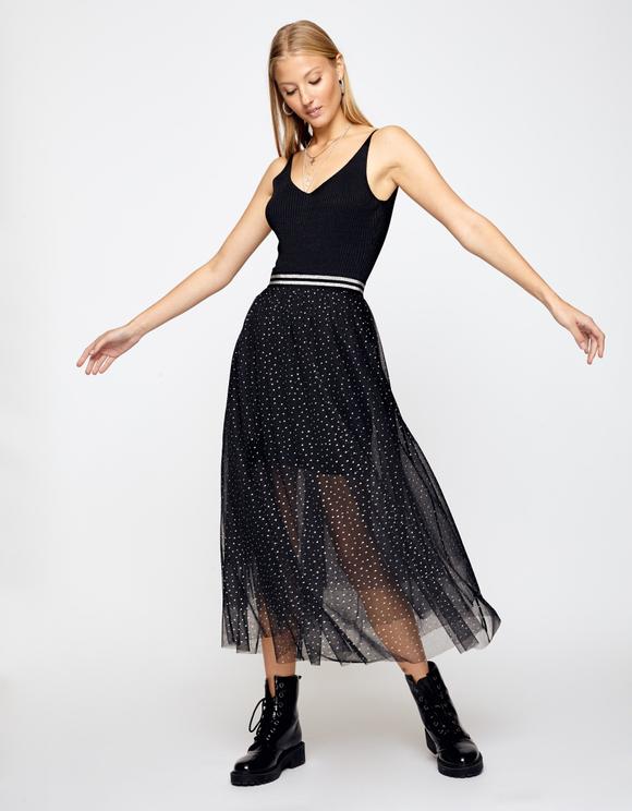 Black Lurex Bodysuit