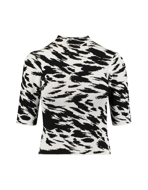 Zebra Print Knitted Top