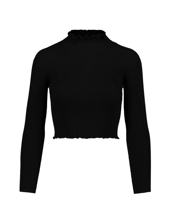 Czarny sweter Cropped