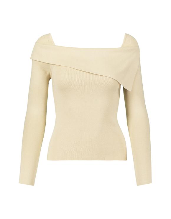 Beżowy asymetryczny sweter