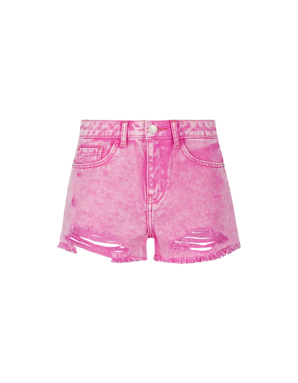 Pink Destroy Shorts