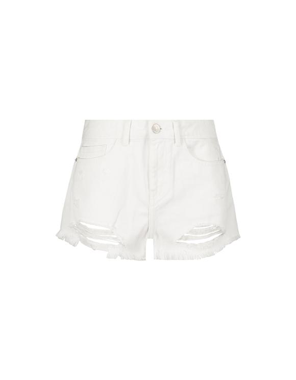 White Destroy Shorts