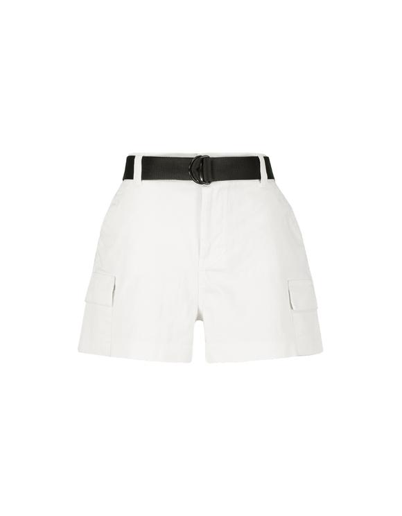 White Cargo Shorts