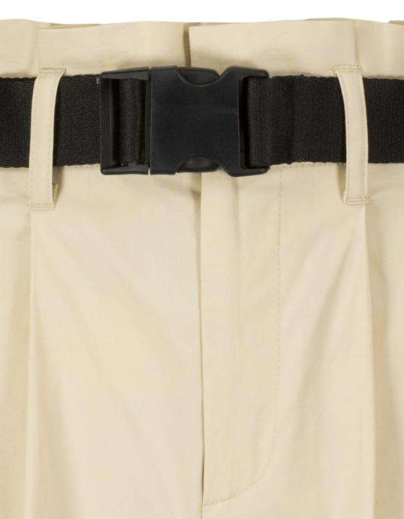 Pantaloncini Beige con Cintura