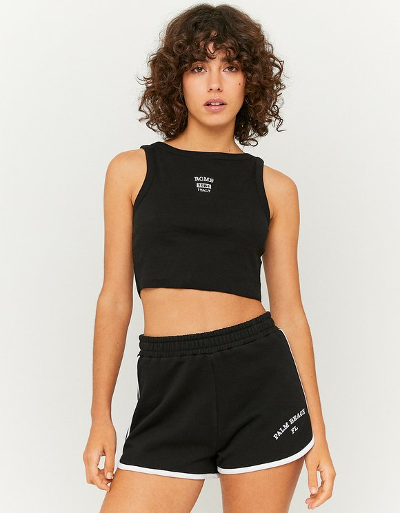 Black Sweatshorts