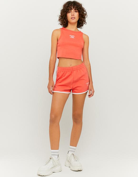 Orange Sweatshorts