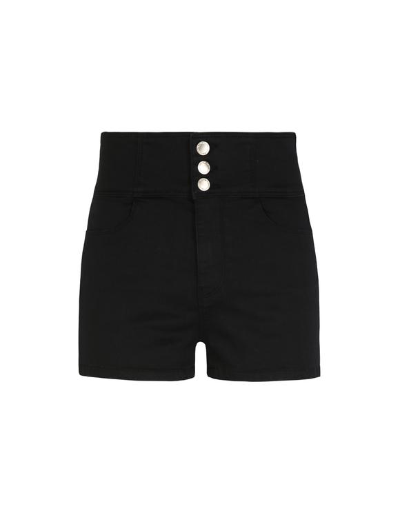Black Buttoned Short