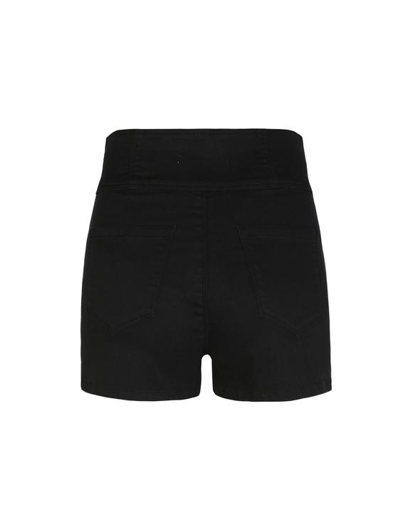 Short Noir Boutonné