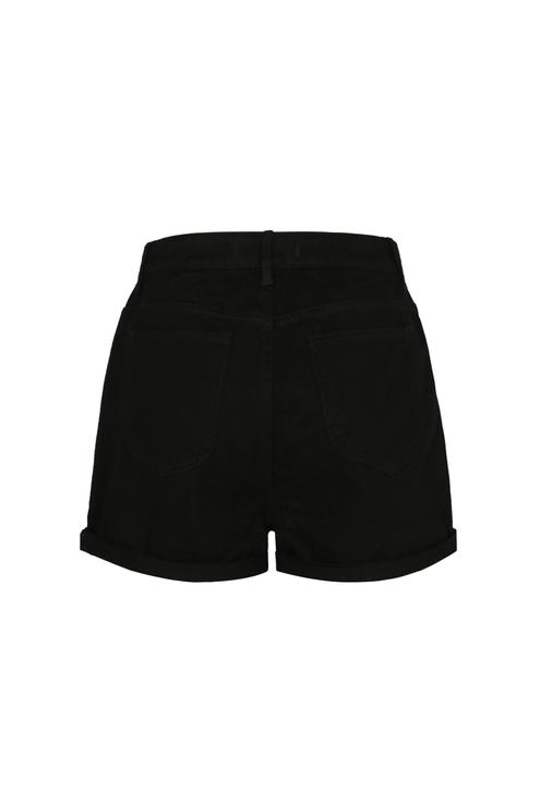 Black High Waist Shorts