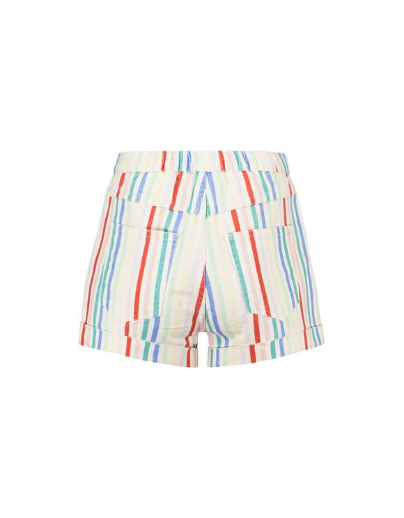 White Striped Shorts