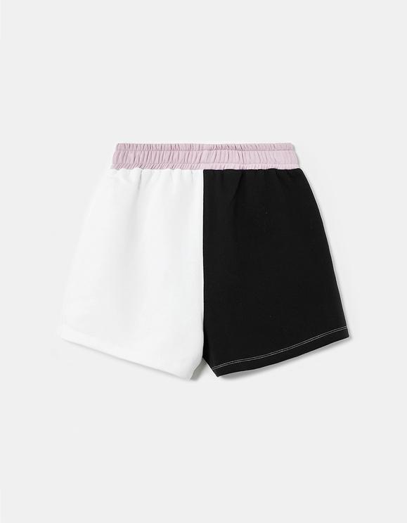 Short de Sport Color-Block en Molleton