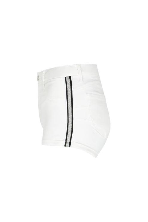Weiße Push-up Shorts mit Streifen