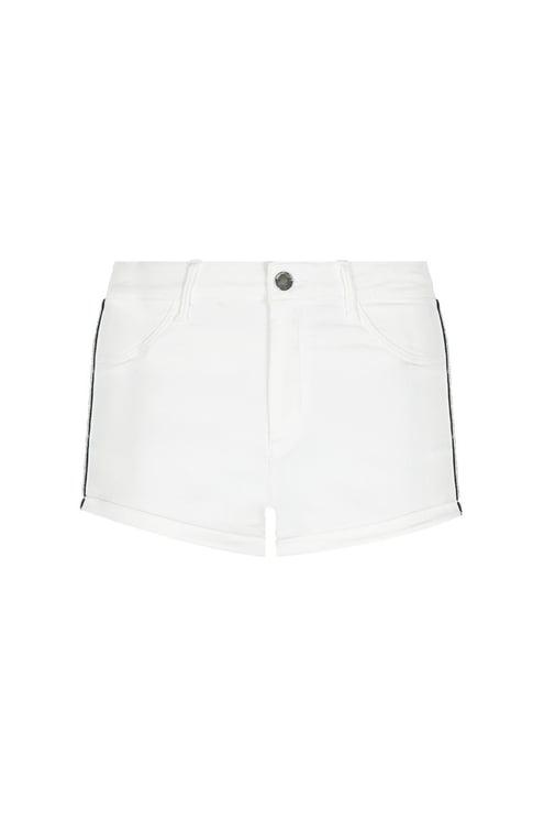White Side Stripe Shorts