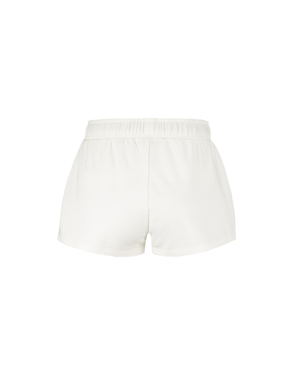 White Shorts with Slogan