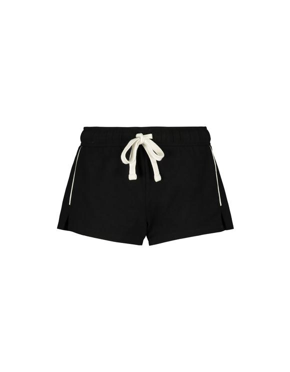 Schwarze Shorts mit Seitenstreifen