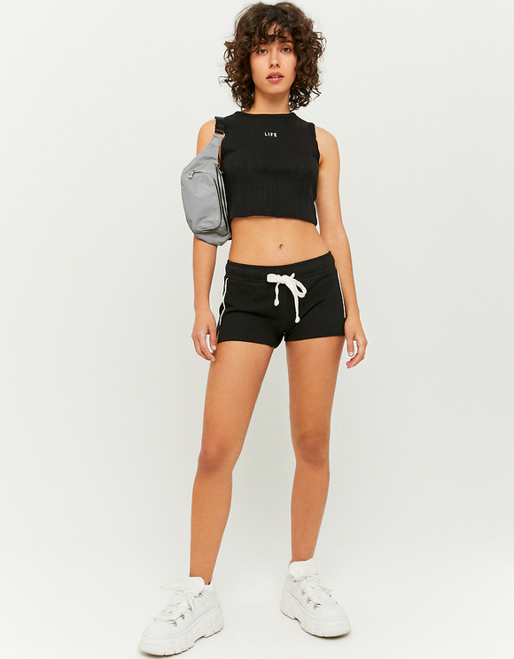 Short en Molleton Noir