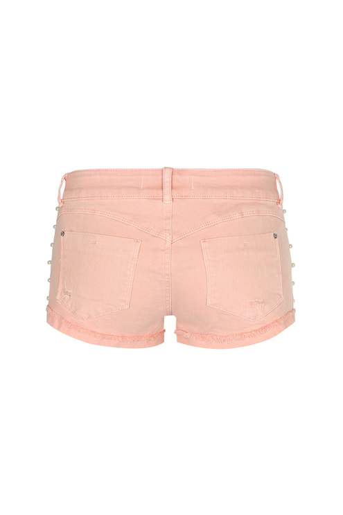 Pink Shorts with Pearls