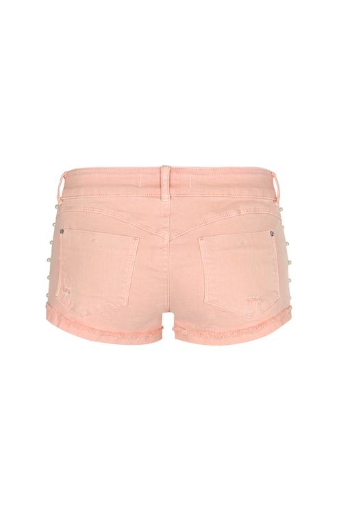 Pantaloncini Rosa Destroyed
