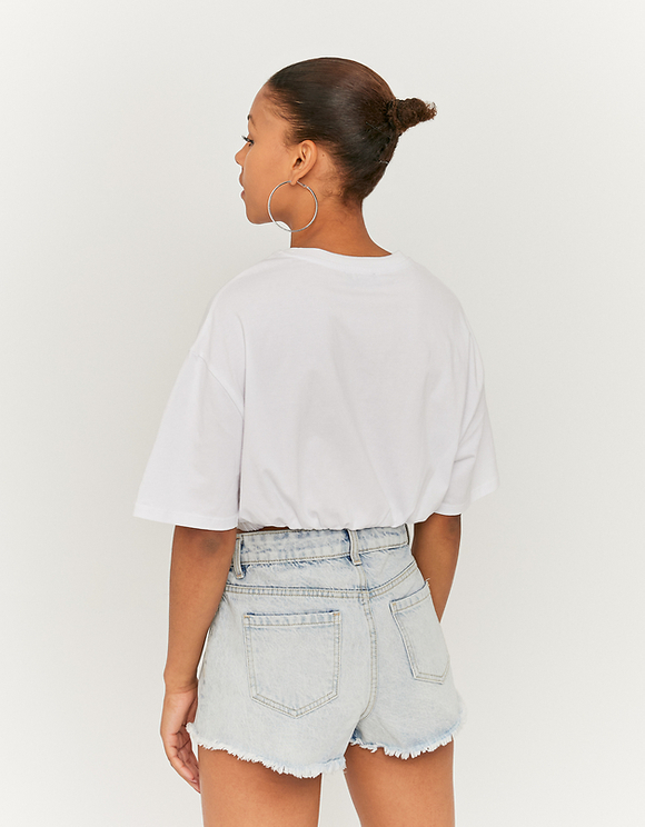 Blaue High-Waist Shorts