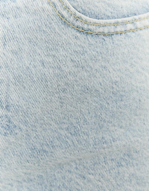 Short en Jean Déchiré Taille Haute