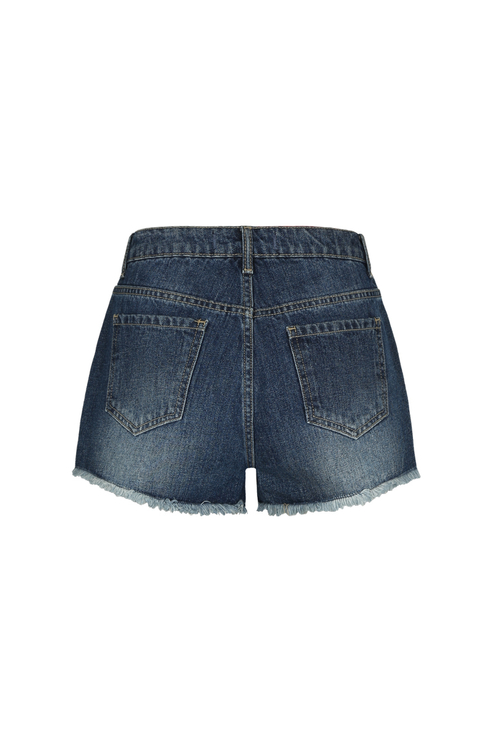 Blaue Denim Shorts