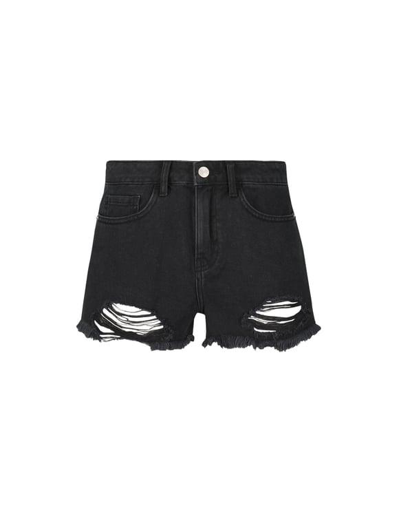 Black Destroy Shorts