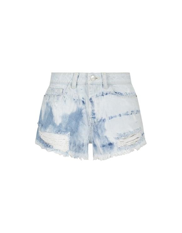 Schwarze Destroy Shorts